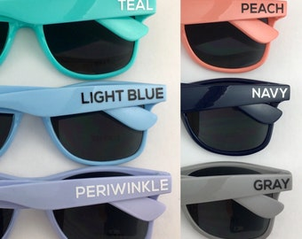 Navy ADULT Personalize Sunglasses, Wedding Favor, Bachelorette Party Favor, Navy Sunglasses, Dark Blue Shades, Nautical Theme, Beach Wedding