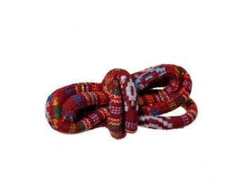 5 m cord round ethnic red wine 6mm diameter