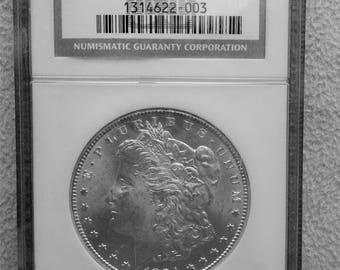 Morgan Silver Dollar 1884-CC MS 63