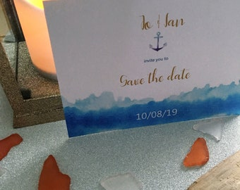 Waves wedding stationery suite