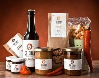 Chili Gift Package Spicy Evening with pesto & pasta as well as Chili cola