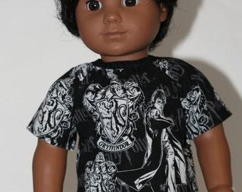 18 Inch Boy Doll Clothes, Wizard Shirt, 18 Inch Doll Clothes, Boy American Doll Clothes, American Doll Clothes