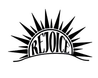 Rejoice Vinyl Decal