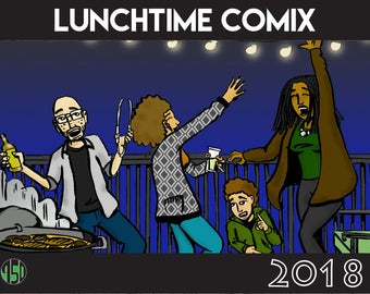 LunchTime ComiX 12-month 2018 Calendar
