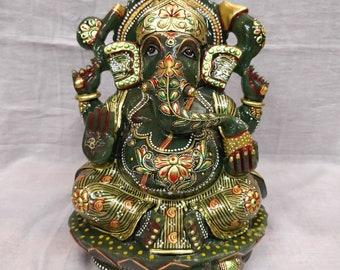 Jade ganesh - Ganesh statue - Ganpati statue - Jade ganpati - Hindu Diety - Hindu god Figurine- Hindu God ganesh - Hindu Elephant Head God