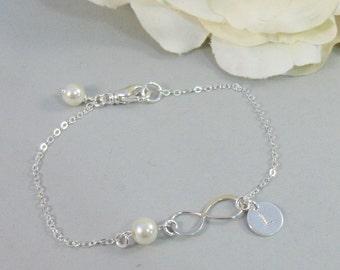 Infinity,Bracelet,Infinity Bracelet,Initial Bracelet,Hand Stamped Bracelet,Sterling Silver Bracelet,Sterling Silver Infinity,valleygirldesig