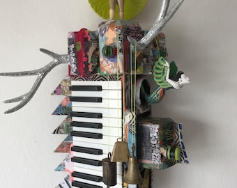Elton John, the One-of-a-Kind, Wallhanging Sculpture, Made from Upcycled Materials
