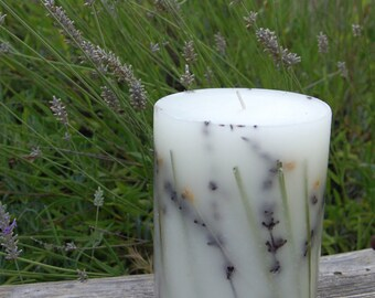 Lavender & Grass Botanical Candle with Lavender Fragrance