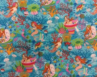 Fun Hawaiian Print Cotton Fabric (Yardage Available)