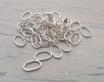 Sterling Silver Jump Ring Sterling Silver Oval Jump Ring 25 Pieces Sterling Silver Jewelry Supply Findings
