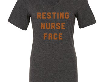SALE 30% OFF!  Resting Nurse Face Tee   halloween, nurse gift, nurse shirt, RN gift, registered nurse, nurse, nurses, nursing school