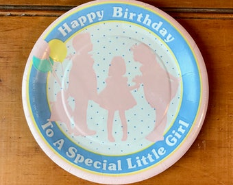 Birthday Party Plates ~ vintage girl