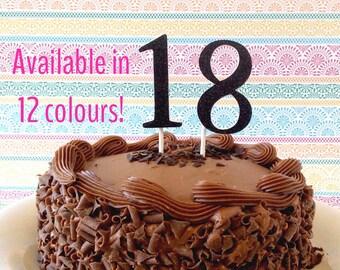 Large glitter number cake topper cake smash props 1st