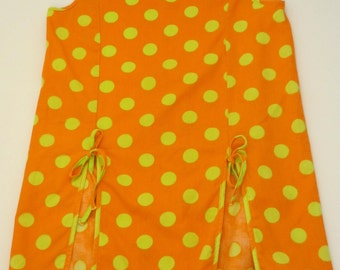 orange polka dot dress vintage girls orange and lime green vintage kids clothing vintage little girls dressn