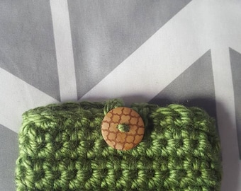 CUSTOM Crochet Kindle/Tablet Sleeve with Button Closure