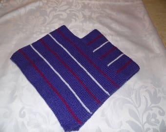 Purple Pinstripe poncho size 18 months
