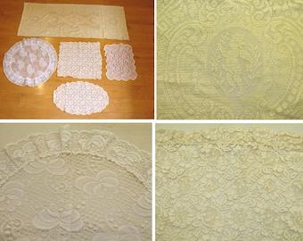 Vintage lace doilies lot-beautiful cupid doilie-nice collection