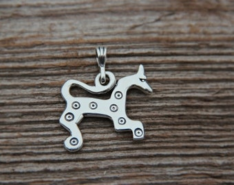 Silver Latgalian Sun Horse pendant