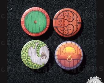 Hobbit Door - Secret Garden Buttons/Badges SET