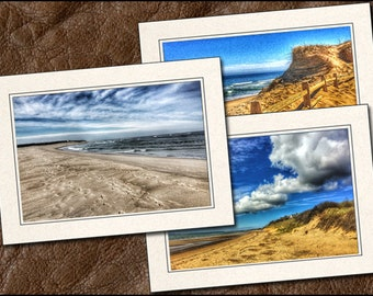 3 Cape Cod Photo Note Cards Set - 5x7 Cape Cod Note Cards - Cape Cod Photo Greeting Cards Set - Cape Cod Greeting Cards Handmade - (BE4)