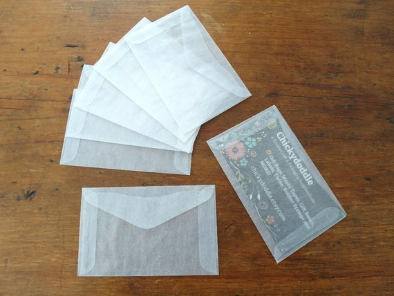 Mini glassine envelopes business card envelope gift card reheart Image collections