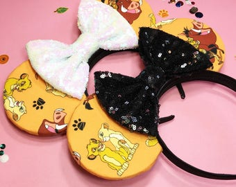Disney inspired The Lion King Simba Minnie Mouse ears