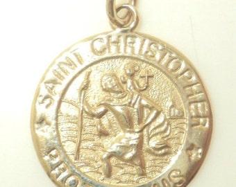 Saint Christopher Protect Us Pendant (JC-224)