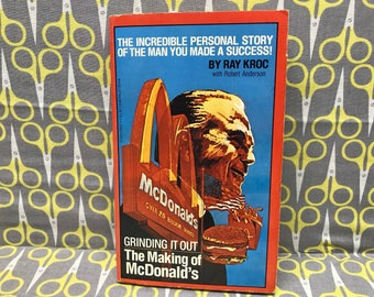 Grinding it Out The Making of McDonalds by Ray Kroc paperback book vintage