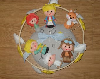 Mobile with characters from Little Prince's story