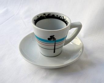 Velodrome Espresso Cup and Saucer