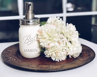 Mason Jar Soap Dispenser, Distressed Mason Jar, Mason Jar Decor, Chalk Paint Mason Jars, Mason Jar Kitchen Decor, Mason Jar Bathroom Decor