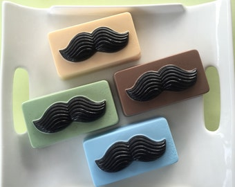 Mustache Soap - Soap for Men - Fathers Day Soap - Custom Color and Scent Mustache Soap - handcrafted glycerin soap
