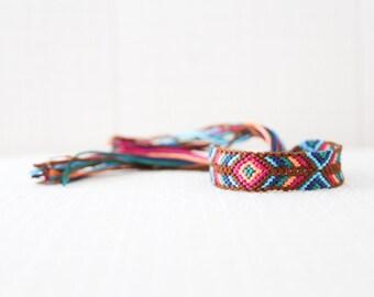 Woven Bracelet Tribal Diamond Chevron Friendship Bracelet Stocking Stuffer