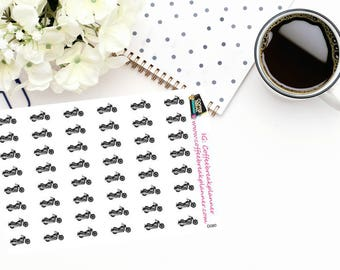 Planner Stickers|Motorcycle Stickers in Black|Riding Stickers|Motorcycle Planning Stickers|D080