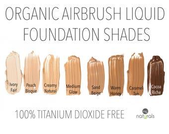 Organic, Vegan Liquid mineral foundation, Titanium Dioxide Free SAMPLE