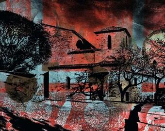 Abbaye Saint Pierre, 3 designs, Sanary-sur-Mer, photography, Mixedmedia, collage