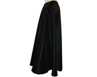 Black taffeta skirt Floor length formal evening maxi skirt XS S M L XL
