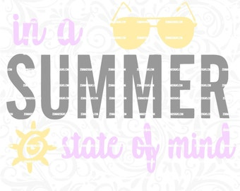 sunglasses svg - summer svg - sun svg - beach svg - beach svg files  .SVG, .PNG .DXF Silhouette studio-cutting file- commercial use svg