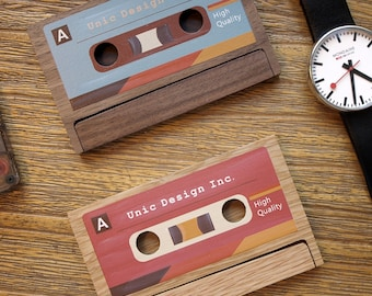 Business card cases etsy sg search results favourite favourited add to added cassette business card case colourmoves