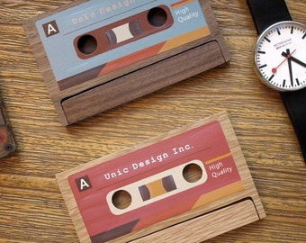 Cassette Business Card Case / Holder 【Personalization Available】