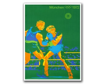 Boxing Vintage Sports Poster Olympic Wall Art (H273)