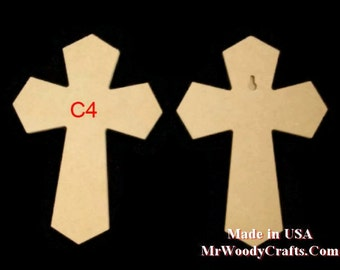 "9""x 12"" Unfinished Wooden Crosses, Choose from 8  styles, Ready to Paint, w/key holes.  6-4-13 A-NP"