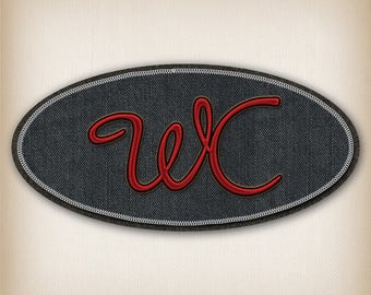 Sticker style black Denim WC door sign and Red 012