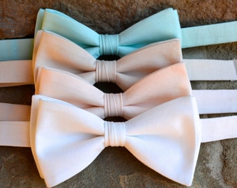 Bow ties for men, mint wedding bow tie, mint bow tie, bow tie,pastel color bow ties,mens bow ties and ties,peach blush Pocket Squares