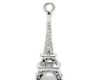 Charm 24x8mm Eiffel Tower charm pendant
