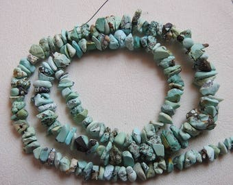 """1. Strand 16"""" Turquoise Rough Beads 10X4 To 4X3 MM Approx 100% Natural Fine Quality  Wholesale price New Arrival"""