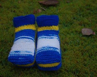 Knitted Slippers, Indoor Knitted Slippers, House Slippers, Christmas Gift, Knitted Socks, Handmade Socks