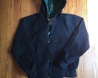 Ozark Mountain Black Canvas Hooded Jacket