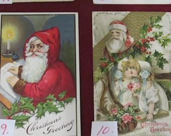 Vintage Christmas Postcards 6, 7, 8, 10