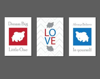 50% OFF Regular Price. Dream Big Little One Elephant Silhouette Prints Available in different sizes 5x7, 8x10x 11x14, 12x18, 18x24 and 24x36